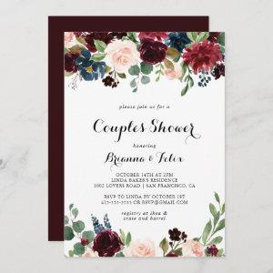 Autumn Rustic Modern Calligraphy Couples Shower
