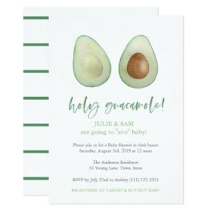 Avocado Punny Funny Couples Baby Shower Invitation