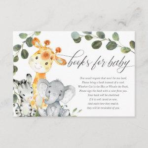 Baby animals gender neutral safari books for baby enclosure card