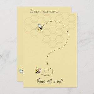 Baby Bees Gender Reveal Invitation
