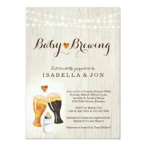 Baby Brewing Couple's Baby Shower Invitation