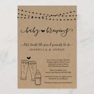 Baby Brewing Couple's Gender Neutral Baby Shower