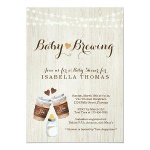 Baby Brewing Tea Party Baby Shower Invitation