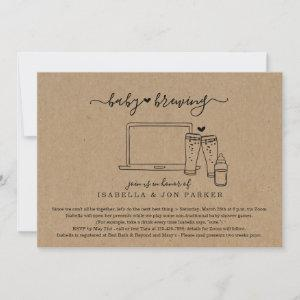 Baby Brewing Virtual Baby Shower Invitation