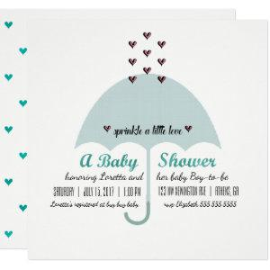 BABY & CO Blue And Pink Baby Shower Sprinkle Party Invitation