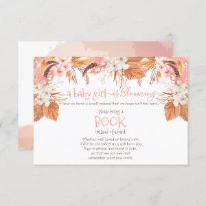 Baby Girl Blooming Pampas Grass Book Request Enclosure Card
