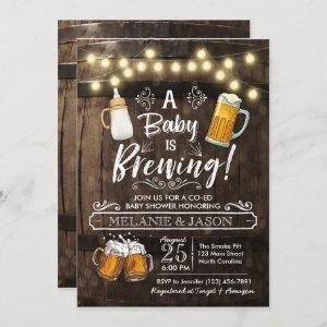 Baby Is Brewing Baby Shower Invitation Beer