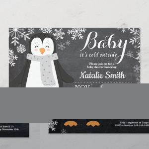 Baby its Cold Outside Penguin Baby Shower