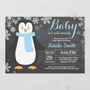Baby its Cold Outside Penguin Boy Baby Shower