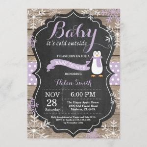 Baby its Cold Outside Penguin Girl Baby Shower