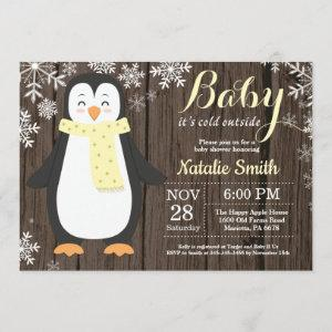 Baby its Cold Outside Rustic Penguin Baby Shower