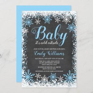 Baby Its Cold Outside Snow Winter Boy Baby Shower
