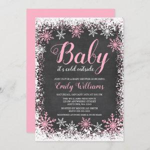 Baby Its Cold Outside Snow Winter Girl Baby Shower