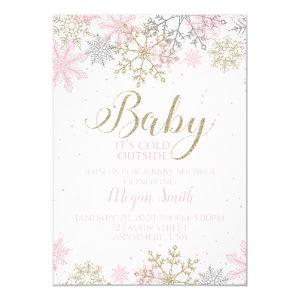 Baby It's Cold Outside Snowflake Baby Shower Invitation