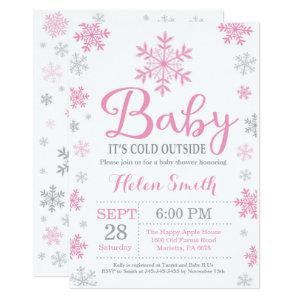 Baby Its Cold Outside Winter Baby Shower Invitation