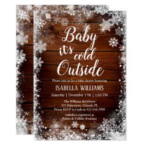 Baby it's cold outside Winter Baby Shower Invitation