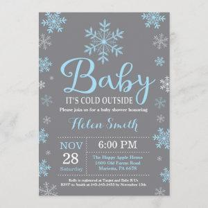 Baby Its Cold Outside Winter Boy Baby Shower