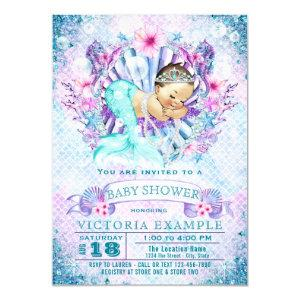 Baby Mermaid Baby Shower Invitations
