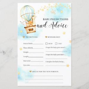 Baby predictions and advice Baby Shower game