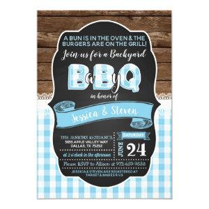 Baby Q Baby Shower Invitation for Boy - Baby Blue