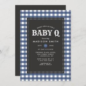 Baby Q Barbeque Rustic Country Baby Shower Invitation
