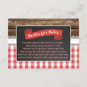 Baby Q Books for Baby Card - Red