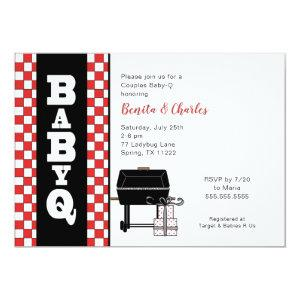 Baby Q Shower, couples BBQ baby shower Invitation