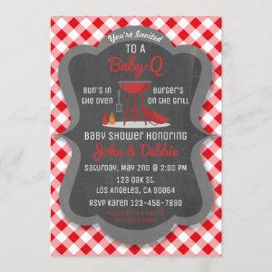 Baby Shower Barbecue Invitation - Baby-Q Party