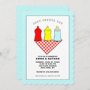 Baby Shower BBQ Invitations