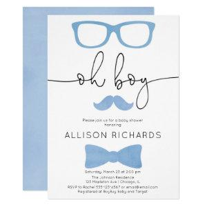 Baby shower boy, A little man is on his way Invitation