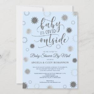 Baby Shower by Mail BABY ITS COVID OUTSIDE Blue