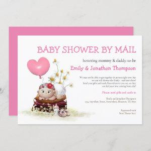 Baby Shower By Mail Cute Baby Ladybird Flowers Invitation