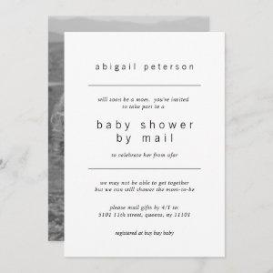 Baby Shower by Mail Minimalist Photo Invitation
