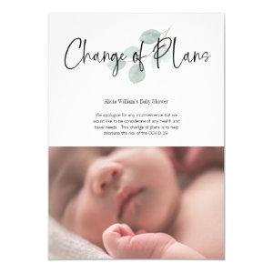 Baby Shower Change of Plans Facebook Party Invitation