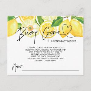 Baby Shower Game Baby Bump Guess Cards Lemons
