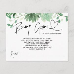 Baby Shower Game Baby Bump Guess Cards Succulents
