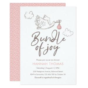 Baby Shower Invitation | Baby Girl Stork