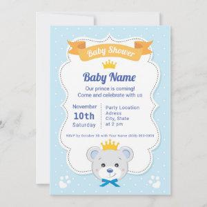 Baby Shower  prince to bear
