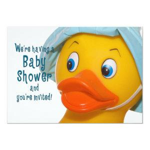 BABY SHOWER INVITATION - RUBBER DUCK CLOSE-UP