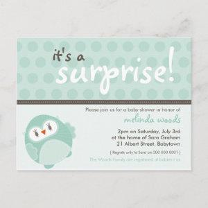 BABY SHOWER INVITATION :: surprise owl 3