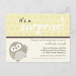 BABY SHOWER INVITATION :: surprise owl 8