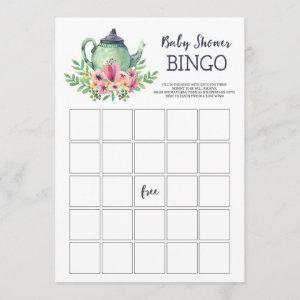 Baby Shower Tea Party Bingo Game Invitation