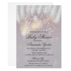 Baby Shower Winter Snowflake Invitation