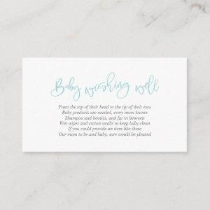 Baby Shower, Wishing Well, Creative Tiffany Script Enclosure Card