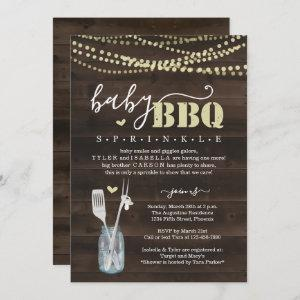 Baby Sprinkle BBQ - Couple's Baby Q Barbeque Invitation