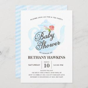 Baby Tea Party   Baby Shower    blue