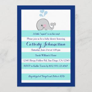 Baby Whale Little Squirt Boy Shower