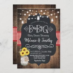 BabyQ Baby BBQ Country Baby Shower Invitations