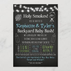 BaByQ BBQ Baby Shower Invitation and Book Card