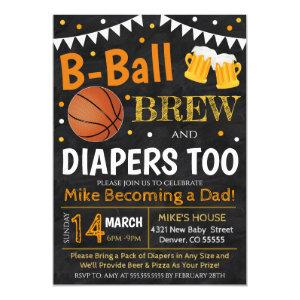 Basketball and Beer Baby Shower Invite